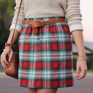 J crew tartan plaid pull on skirt size 4